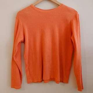 Ann Taylor orange long sleeve knit sweater