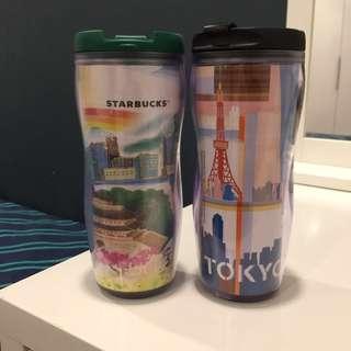 (Brand New) Limited Edition Starbucks City Tokyo & Seoul Tumblers