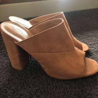 Forever new tan mules