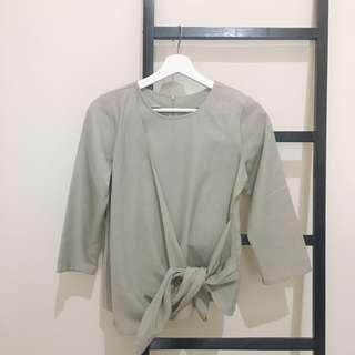Myrubylicious Kimono Tied Grey Top