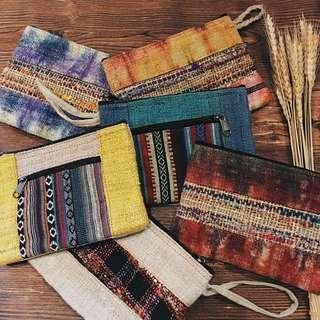 🚚 尼泊爾麻料多用途拉鍊手織包