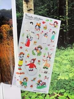 1 Sheet Penguin Girl PVC stickers