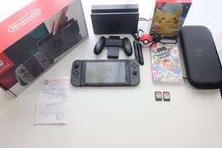 Nintendo switch gray banyak bonus