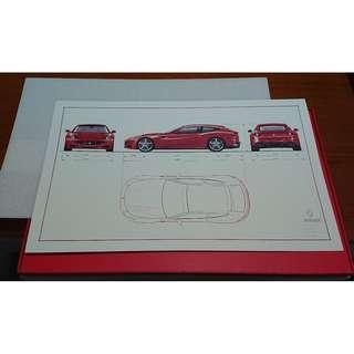 🚚 Ferrari 法拉利 FF 官方 車身尺碼圖紙 紀念品