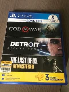 🚚 God of War and Detroit PS4 bundle game only