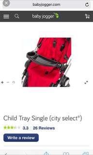Babyjogger City Select Child Tray Single