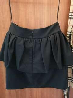 Zara Peplum Black Skirt