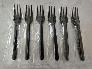 Plastic Fork for party - Individual wrap - Black - Classic