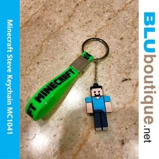 MINECRAFT STEVE MOSQUITO REPELLENT 100% ECO-FRIENDLY SILICONE KEYCHAIN