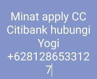Jasa apply cc citibank