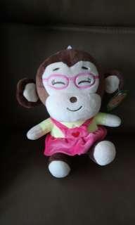 🚚 贈品--眼鏡猴娃娃