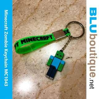 MINECRAFT ZOMBIE MOSQUITO REPELLENT 100% ECO-FRIENDLY SILICONE KEYCHAIN