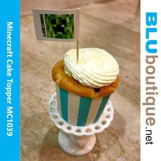 MINECRAFT CUPCAKE TOPPER CREEPER/ TNT (1 SET OF 10 PIECES)