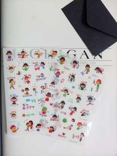 2 Sheets Korean Planner Stickers Deco