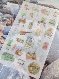 1 Sheet Exquisite Life washi stickers DIY