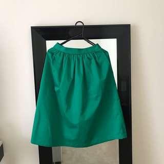 Bardot blue round skirt