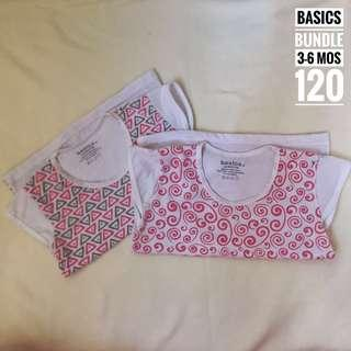 Basics by SM Tops 3-6 mos