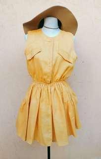 Mustard Yellow Dress (M-L)