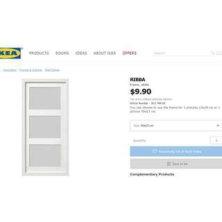 "IKEA Ribba Photos Frame ""3 pieces"" (Brand New)"