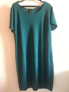Green tshirt dress free size