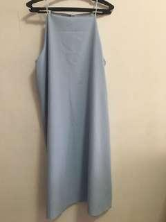 Baby blue halter dress