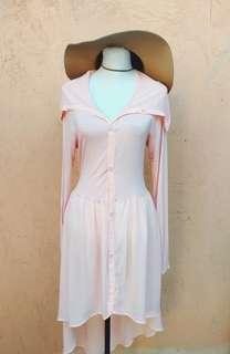 Hi Low Peachy Pink Coverup (freesize)