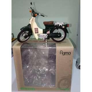 figma ex:ride 1:12 scale Retro Bike Green (honda cub c70)