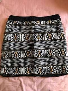 Warehouse Skirt (tribal pattern)