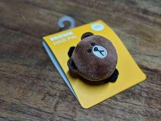 🚚 Brown Hair Pin (from Line store South Korea)