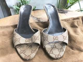 Gucci kitten-heel sandals sz 38