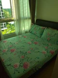 🚚 Queen size bed with Sultan Mattress for sale!