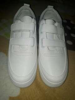 White Velcro Shoes [ last price ]