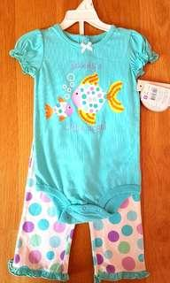 🚚 Girl romper set with pants (3 designs)