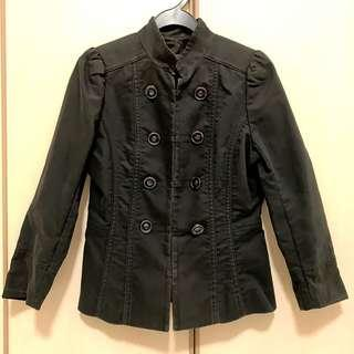 🚚 MNG Black Jacket with Double Row Buttons