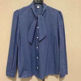 🚚 Checkered Long-Sleeve Top (Blue, White)