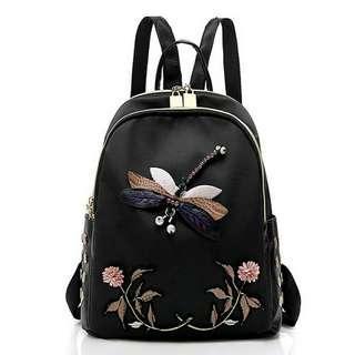 WOMEN'S TRAVEL CASUAL KOREA DRAGONFLY DESIGN SHOULDER BACKPACK BAG