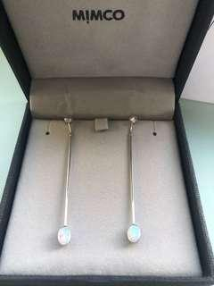 Mimco opal sterling silver earrings