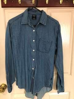 Chambray/ denim shirt