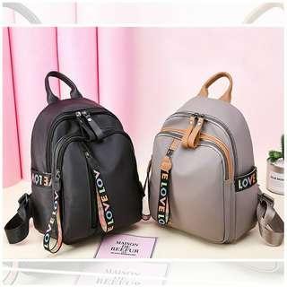 WOMEN'S TRAVEL CASUAL SIDE LOVE ZIP SHOULDER BACKPACK BAG