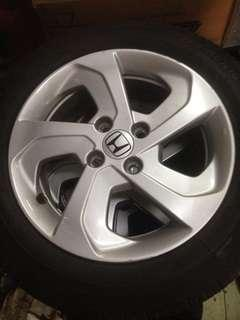 """Sport rim with tyre 15"""" 4/100"""
