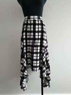 Asos black and white checkers skirt AU 10