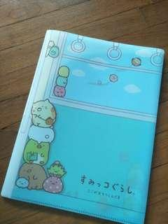 San x Sumikko gurashi folder file 10 pockets