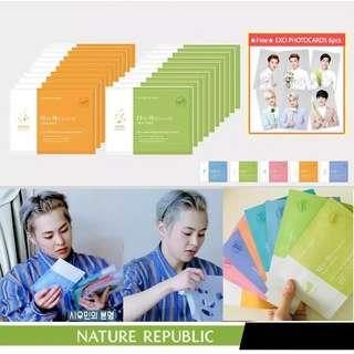 EXO EDITION Nature Republic Sheet Mask Ampoule Type
