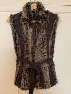 Wool/faux fur gilet