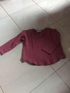 Sweater maroon 4thn