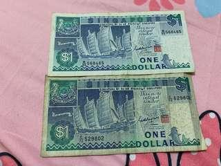 🚚 Singapore Old $1 Notes