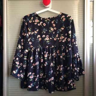 🚚 Floral Babydoll Top