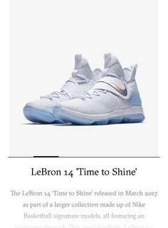 65cd77858a5 LeBron 14 Time To Shine