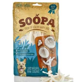 Soopa 100% Natural Raw Coconut Dog Chews 100g