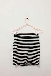 HnM stripe skirt